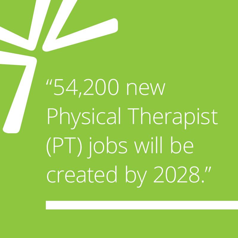 54,200 new Physical Therapist (PT) jobs will be created by 2028.